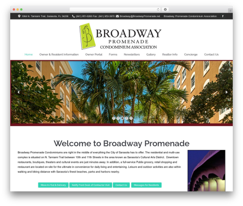 WordPress theme The7 - broadwaypromenade.net