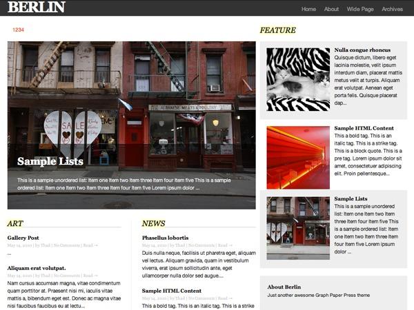 Berlin WordPress news template