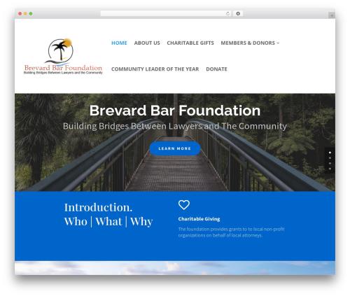 Divi WordPress theme design - brevardbarfoundation.org