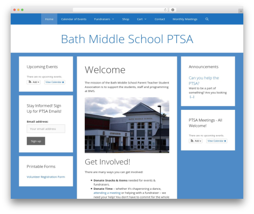 GeneratePress theme WordPress free - bathmiddleschoolptsa.com