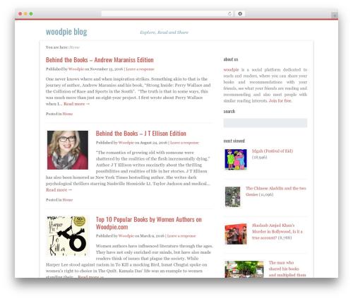 Path WordPress blog theme - blog.woodpie.com