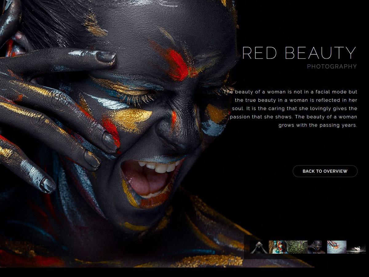 RedArt personal WordPress theme