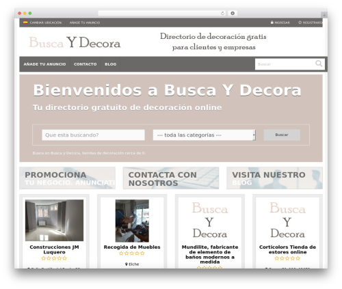 Responsive Business Theme WordPress theme - buscaydecora.com