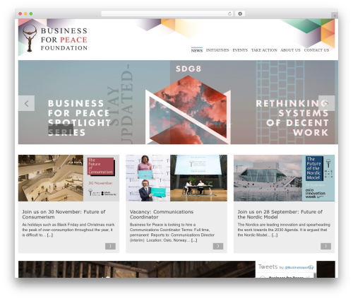 Spectral WordPress template for business - businessforpeace.com
