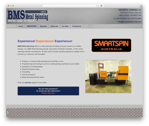 Template WordPress BMS - bmsmetalspinning.com