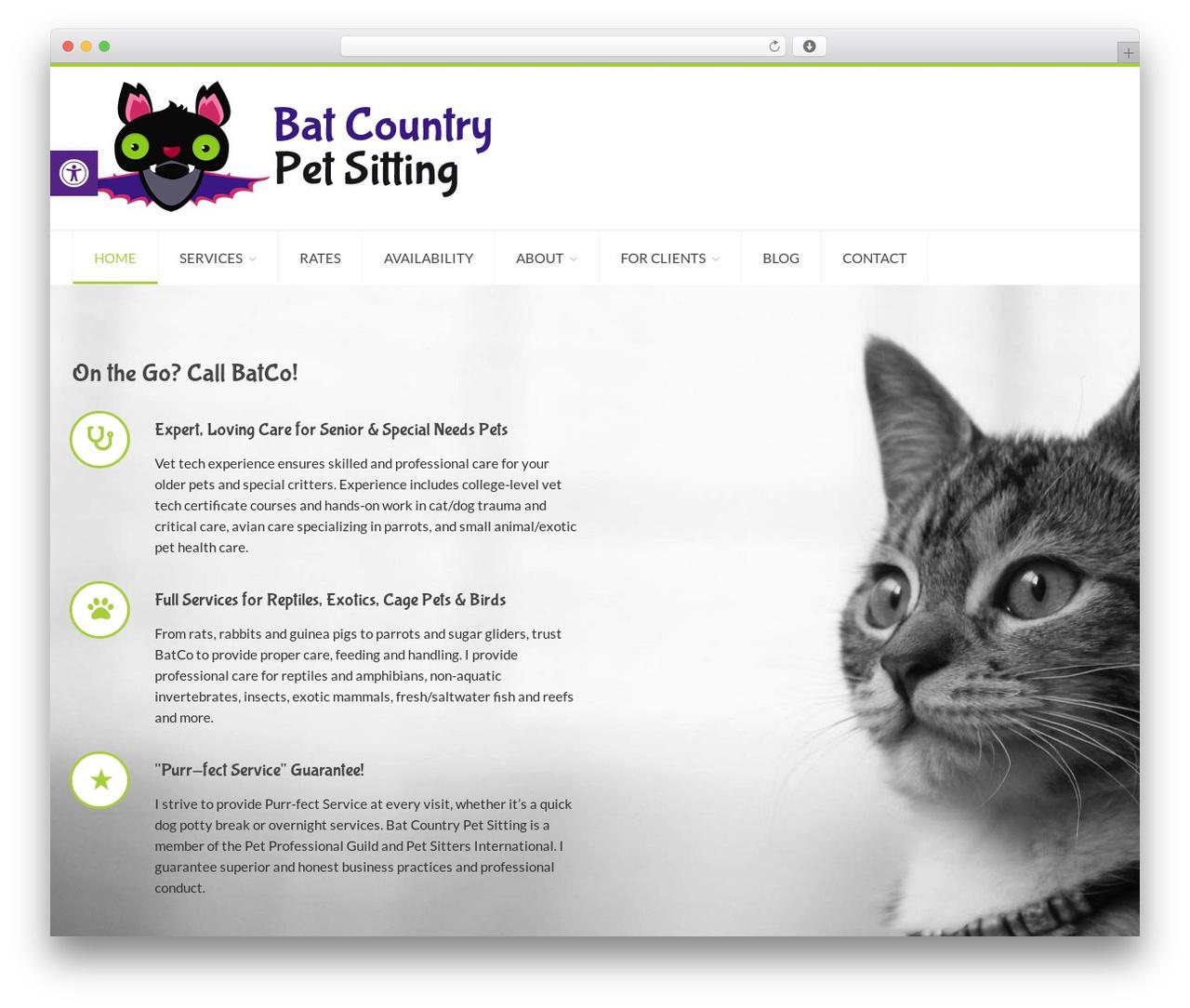 Template WordPress Petsitter By Dan Fisher Batcopetsitting Com