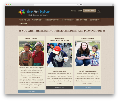 Theme WordPress Humanity - blessanorphan.com