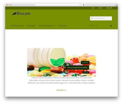Theme WordPress Storefront - biocare.hu
