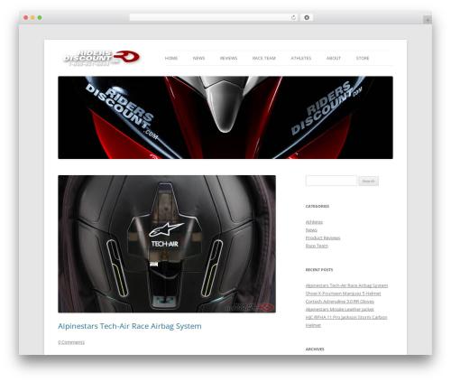 Twenty Twelve best free WordPress theme - blog.ridersdiscount.com