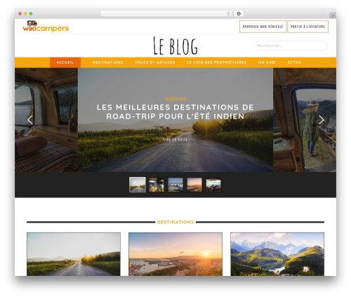 Yorkpress WordPress blog theme - blog.wikicampers.fr
