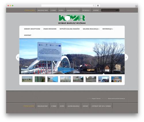 Aggregate WordPress page template - womar.biz