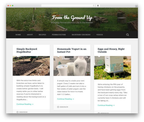 Baskerville WordPress template free - fromthegroundblog.com