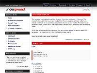 Best WordPress template Underground
