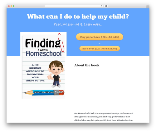 Booker best WordPress template - findingawaytohomeschool.com