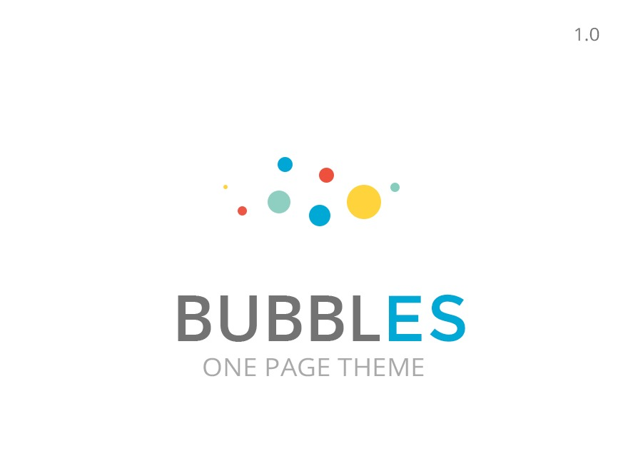 bubbles responsive parallax one page theme template wordpress by