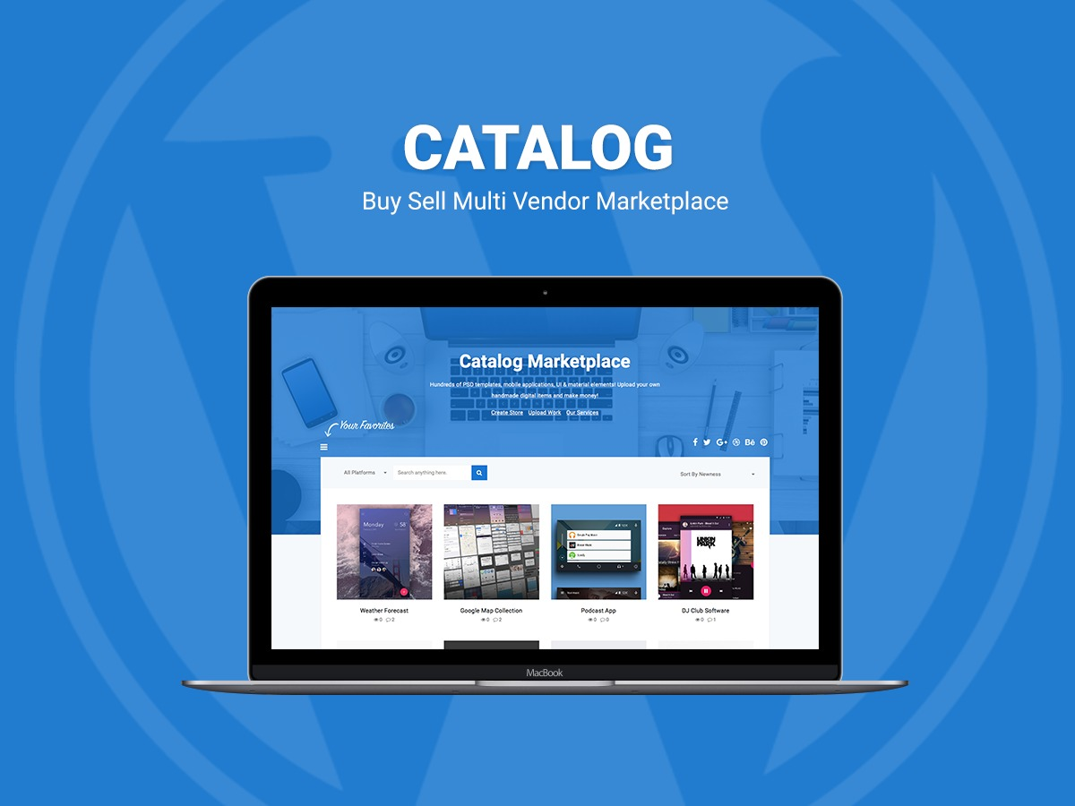 Catalog WordPress store theme