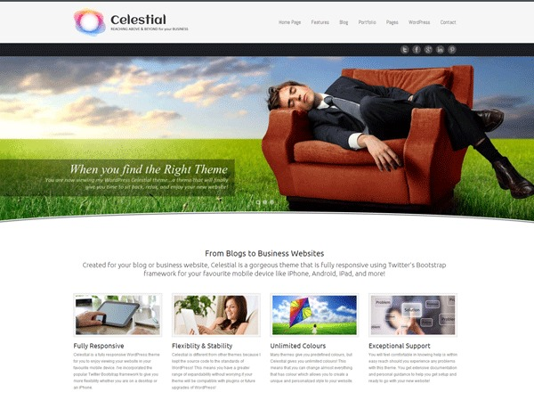 Celestial business WordPress theme