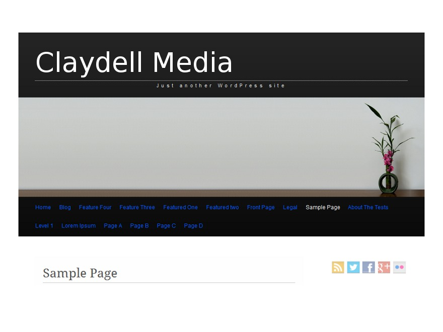 Claydell Media premium WordPress theme