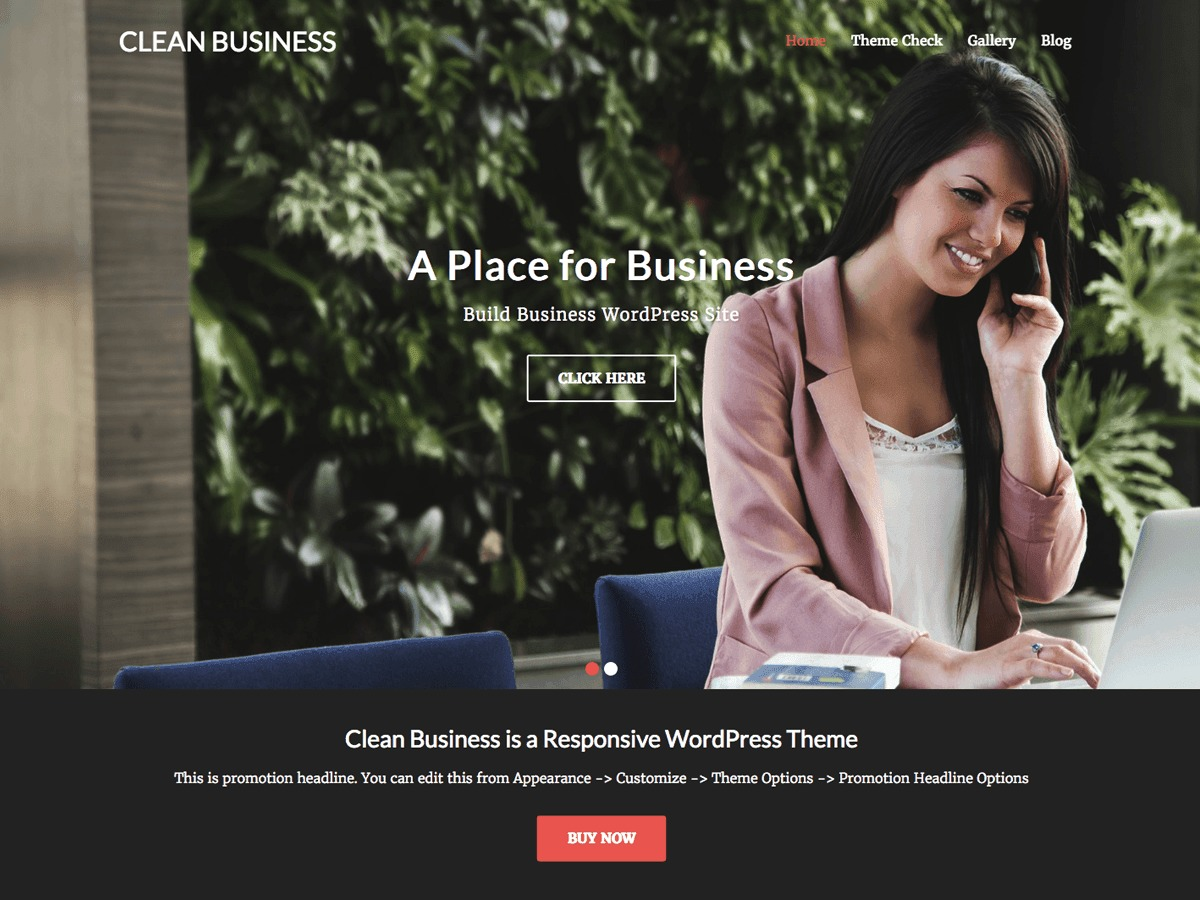 Clean Business template WordPress free
