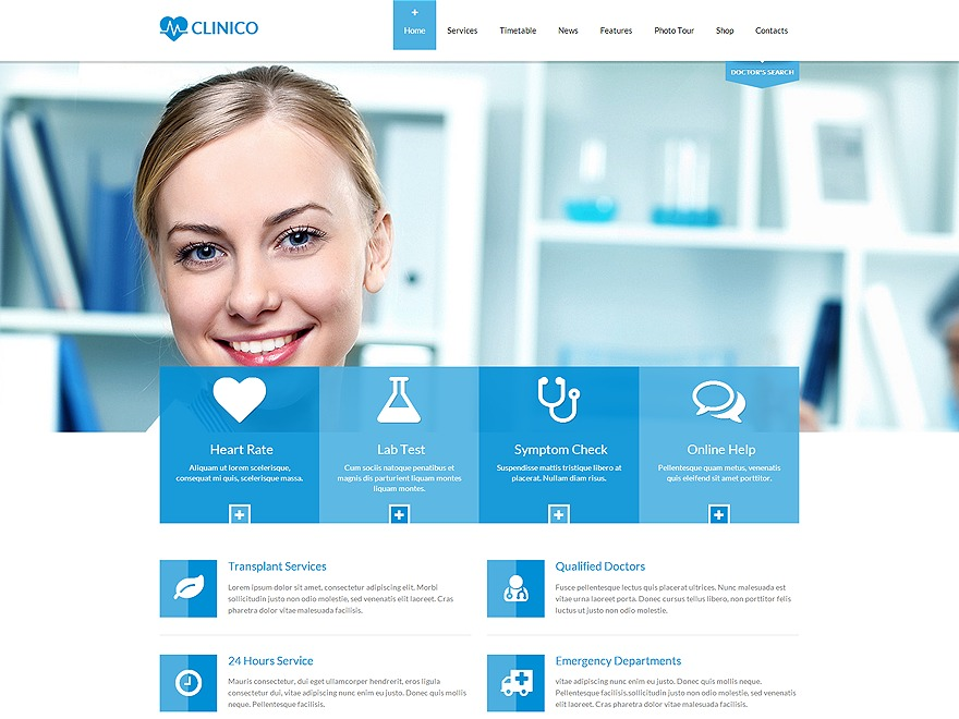 Clinico - Child theme medical WordPress theme
