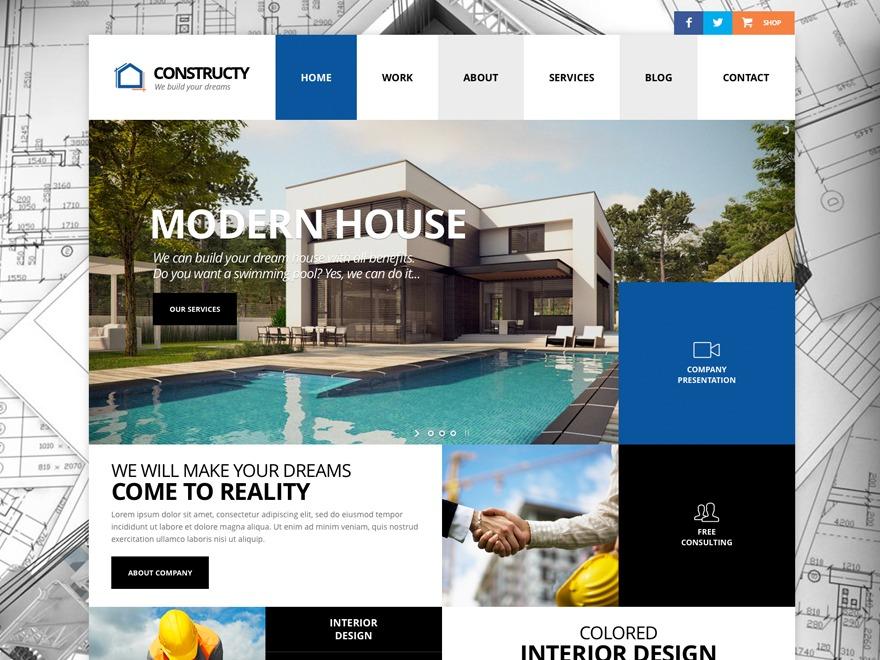 Constructy company WordPress theme