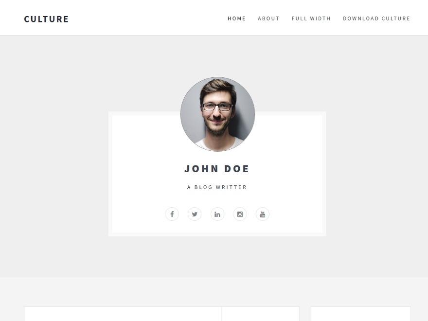 Culture free WP theme