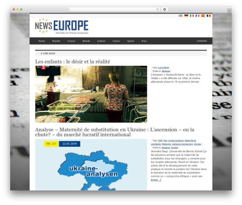 deFacto WordPress news template - fr.newseurope.info