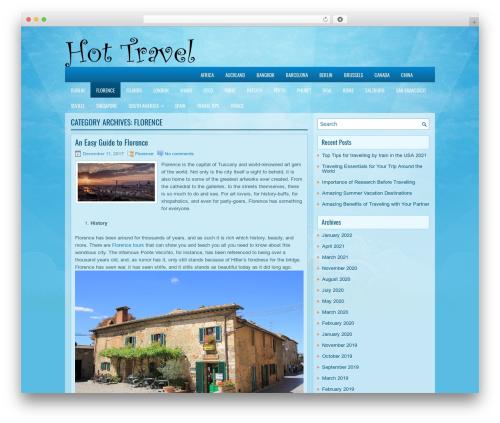 EducationBlog WordPress blog theme - florence.hot-travel.org