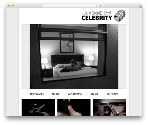 Elegant Photography Theme WordPress template for photographers - unofficialcelebrity.com