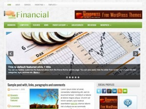 Financial WordPress blog template