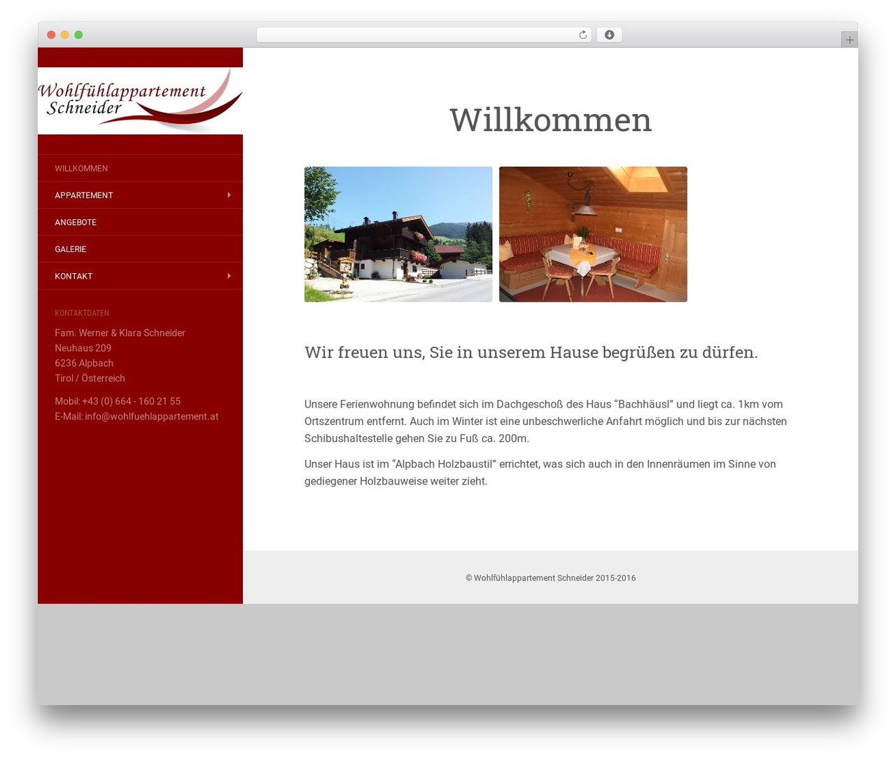 Flat WordPress template free by ThemeIsle - wohlfuehlappartement.at-cms