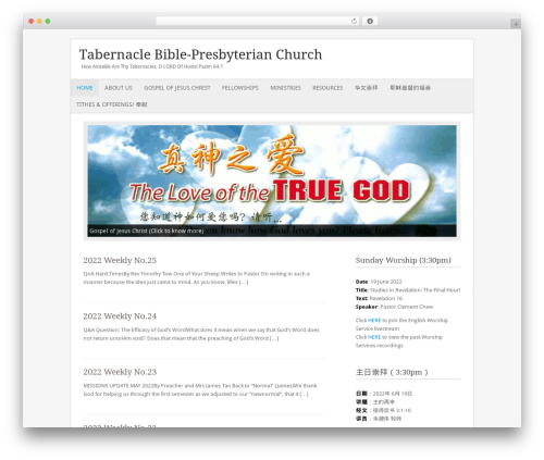 Fresh And Clean theme WordPress - tabernaclebpc.com