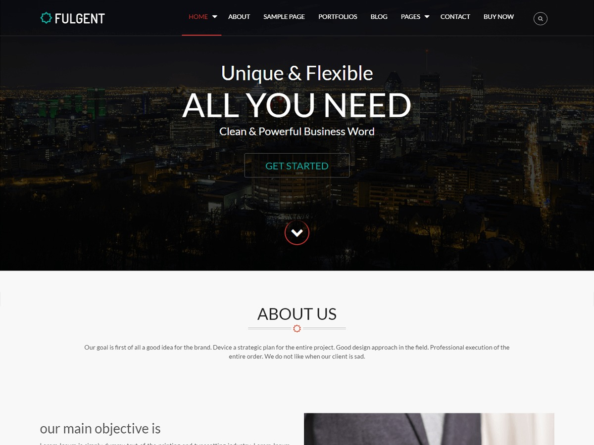 Fulgent theme WordPress free