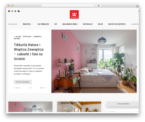 Hawthorn WordPress blog template - tikkurilapotegakolorow.pl