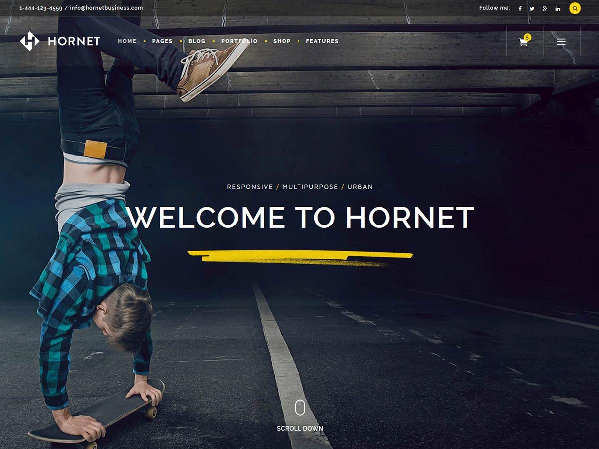 Hornet WordPress blog template
