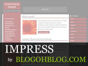Impress WordPress blog template