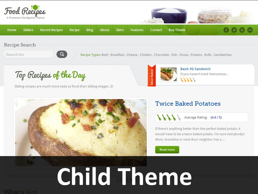 InspiryThemes: Food Recipes Child Theme food WordPress theme