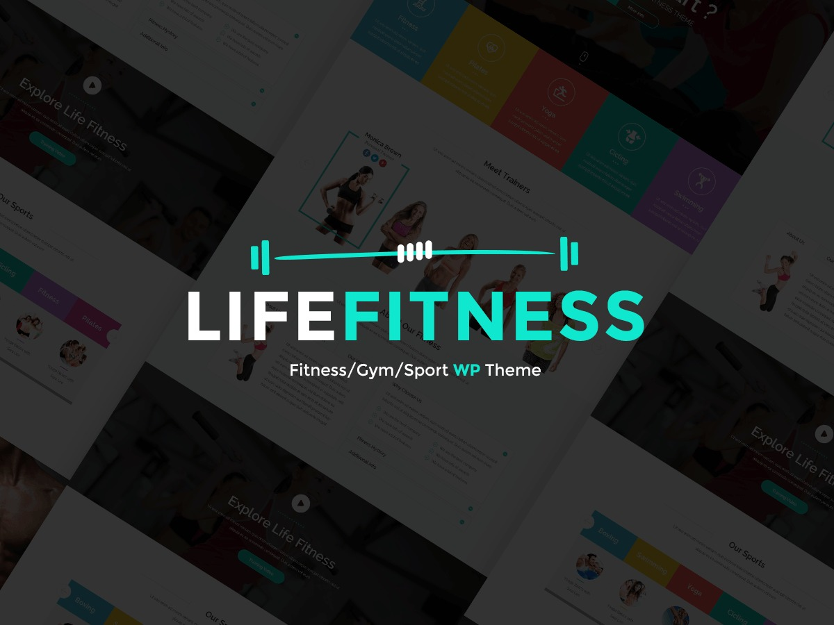 Lifefitness gym WordPress theme