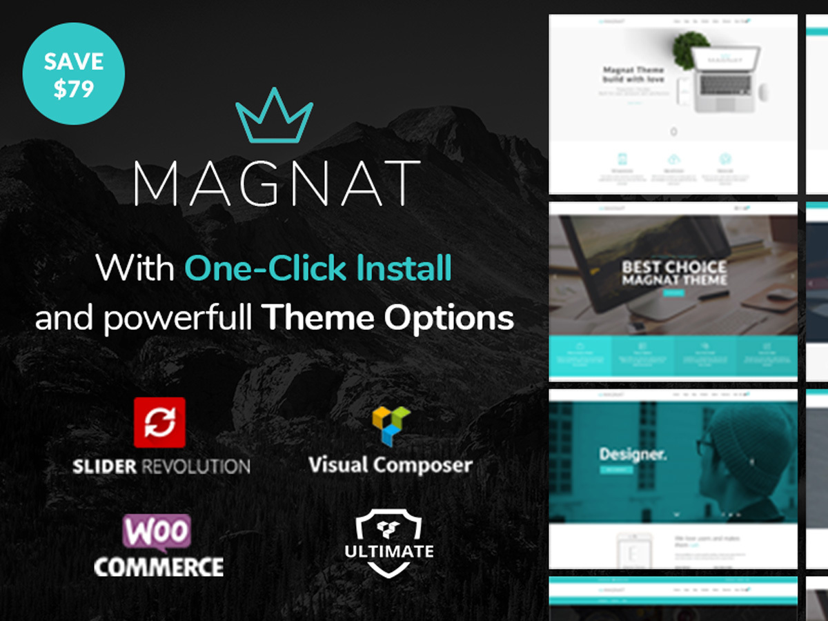 Magnat WordPress shop theme