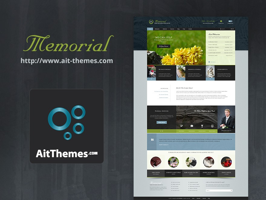 Memorial template WordPress