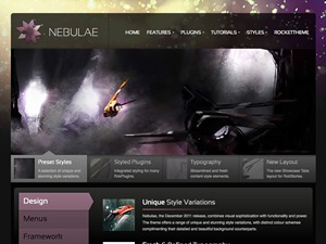 Nebulae premium WordPress theme