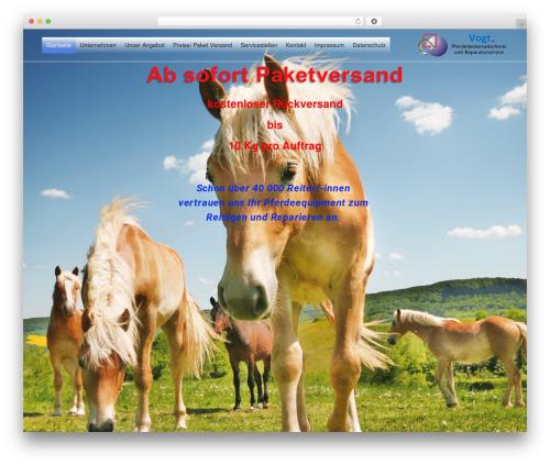 neve theme WordPress - pferdedeckenwaescherei-vogt.de