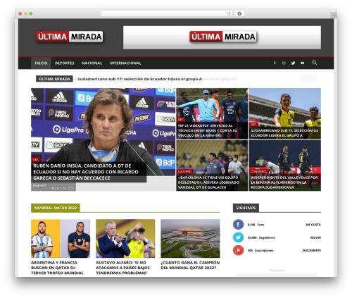 Newspaper WordPress theme - ultimamirada.com