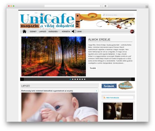 Organic-Magazine WordPress news template - unicafe.hu
