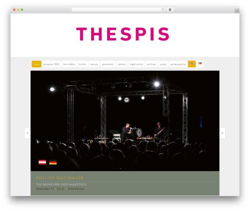Portfolio personal blog WordPress theme - thespis.de
