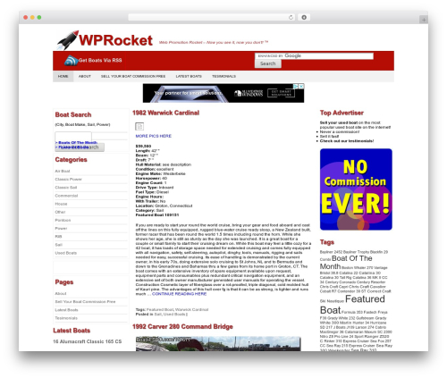 Producer WordPress template - wprocket.org