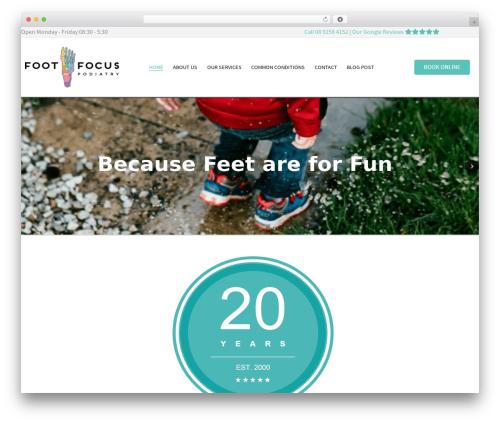 Salient WordPress theme design - footfocuspodiatry.com.au