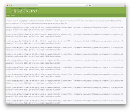 Sentry premium WordPress theme - ultimagazine.com