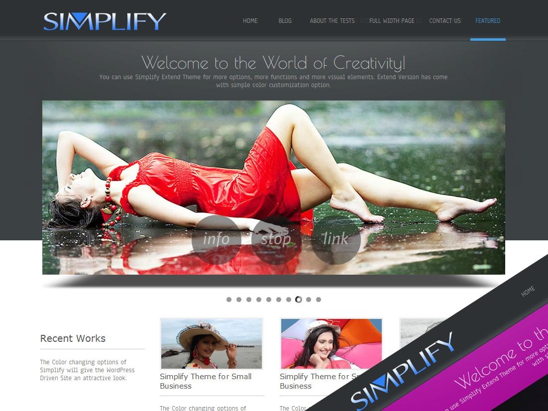 Simplify  Extend company WordPress theme