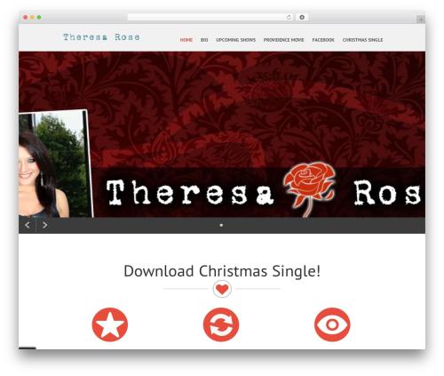 SKT Parallaxme WordPress theme - theresarosemusic.com